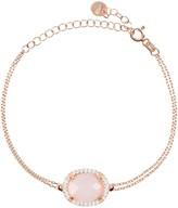 Latelita Beatrice Bracelet Rose Gold Rose Quartz