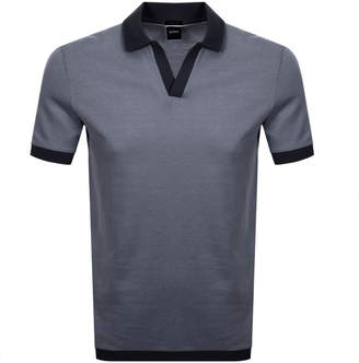HUGO BOSS Boss Business Pye 4 Polo T Shirt Navy