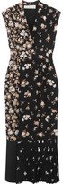 Golden Goose Deluxe Brand Floral-print Silk Crepe De Chine Maxi Dress - Black