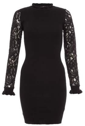 Dorothy Perkins Womens *Quiz Black Long Sleeve Bodycon Dress, Black