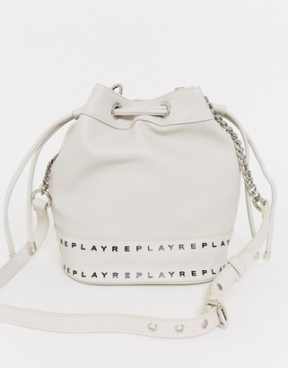 Replay bucket bag in white