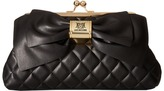 Love Moschino Quilted Bow Clutch Clutch Handbags