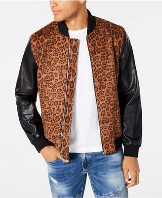INC International Concepts Inc Men Leopard Print Bomber Jacket