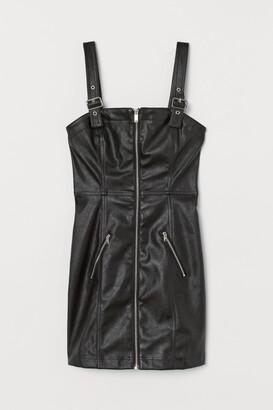 H&M Short imitation leather dress
