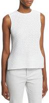 Derek Lam Sleeveless Knit High-Low Top, White