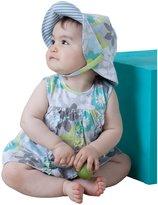 Angel Dear Hazel Panty Dress - Pale Gray/Turquoise - 18-24 Months