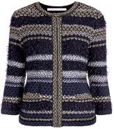 Diane von Furstenberg Kiera Metallic Knit Cardigan