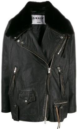 S.W.O.R.D 6.6.44 oversized biker jacket