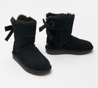 Koolaburra By Ugg by UGG_Kids Suede Bow Short Boots - Andrah