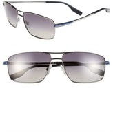 BOSS Men's 59Mm Polarized Navigator Sunglasses - Matte Ruthenium