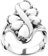 Carolyn Pollack Sterling Swirl Gemstone Ring