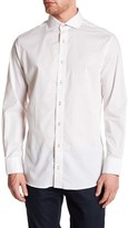 Nick Graham Geo Print Trim Fit Dress Shirt