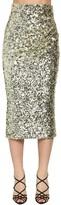 Dolce & Gabbana High Waist Sequined Pencil Midi Skirt