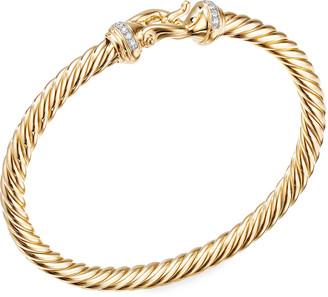 David Yurman 18k Buckle Bracelet w/ Diamonds, Small