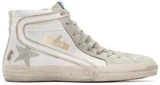 Golden Goose White Slide Sneakers