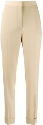 Stella McCartney Straight-Leg Turn-Up Trousers