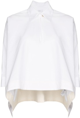 Rosetta Getty Boxy-Fit Cropped Shirt
