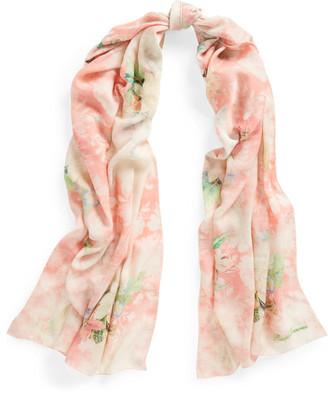 Ralph Lauren Floral Cashmere-Silk Scarf