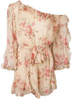 Zimmermann one-shoulder floral playsuit