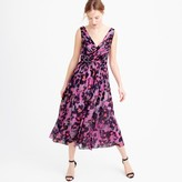J.Crew Collection silk chiffon dress in watercolor floral