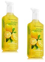 Bath and Body Works Anti-bacterial Deep Cleansing Hand Soap Kitchen Lemon Lot of 2