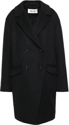Diane von Furstenberg Double-breasted Wool-blend Felt Coat