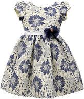 Jayne Copeland Blue Floral Lace Dress, Toddler & Little Girls (2T-6X)