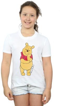 Disney Girls Winnie The Pooh Classic Pooh T-Shirt 9-11 Years Black