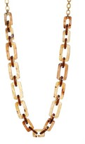 Lafayette 148 New York Women's Wood Square Link Necklace