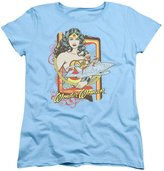 DC Womens: Wonder Woman - Invisible Jet Ladies T-Shirt Size XL