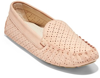 Cole Haan Eveyly Perforated Leather Driver