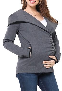 Nom Maternity Rainier Fleece Lined Zip Hoodie