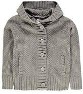 Lee Cooper Kids Boys Hooded Cardigan Junior Jumper Top Long Sleeve Oversized