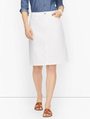 Talbots Denim A-Line Skirt
