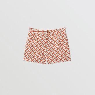 Burberry Childrens Monogram Print Cotton Poplin Shorts