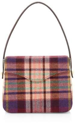 Edie Parker Hot Box Plaid Tweed Shoulder Bag