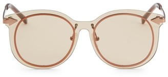 Karen Walker 51MM Mrs Persimmon Round Sunglasses