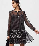 LOFT Mixed Dot Flippy Dress