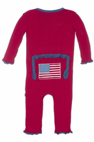 Kickee Pants Flag Ruffle Coverall