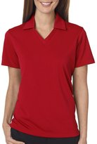 UltraClub® Ladies' Platinum Performance Jacquard Polo with TempControl Technology - 3XL
