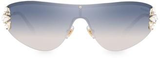 Miu Miu 48MM Embellished Shield Sunglasses