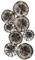 Novae 49 in. x 25 in. Pierced Metal in Bastille Silver Wall Art