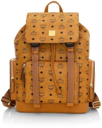 MCM Brandenburg Visetos Drawstring Backpack