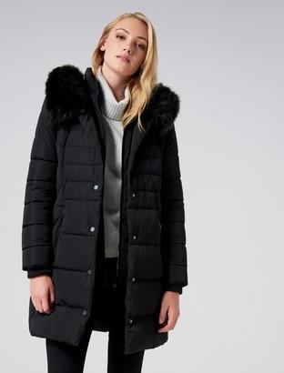 Forever New Penny Puffa Coat - Black - 4