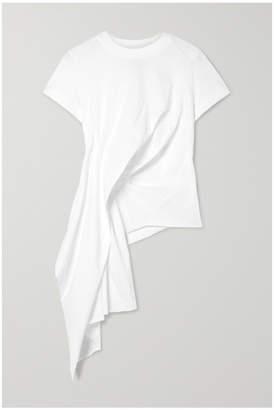 Marques Almeida Marques' Almeida - Draped Cotton-jersey T-shirt - White
