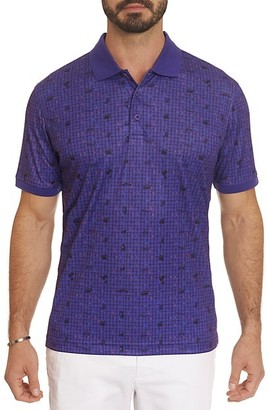 Robert Graham Credit Score Printed Polo Shirt
