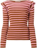 MSGM horizontal ribbed sweater - women - Wool/Polyacrylic - XS