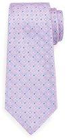 Kiton Neat Woven Flower Silk Tie, Pink