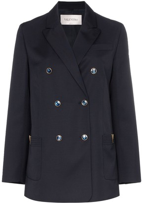 Valentino Double-breasted wool jacket