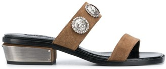 Kate Cate Two Stap Studded Sandals